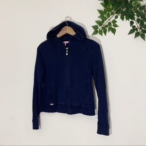 Lilly Pulitzer XS Navy Blue Navy Quilted Hoodie